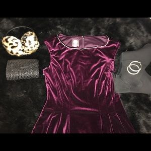 Vince Camuto Purple Velvet Dress size 6